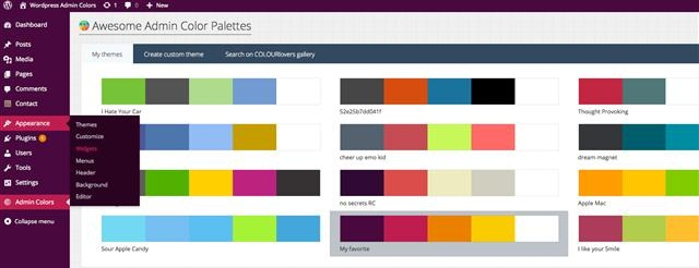 Awesome Admin Color Palettes