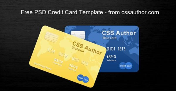 Awesome Credit Card Template PSD (Custom)