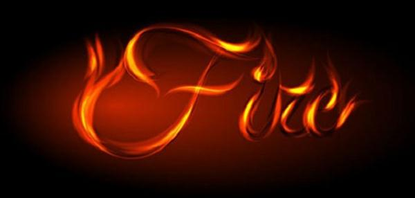Awesome Vector Fire Text Effect in Illustrator (Custom)