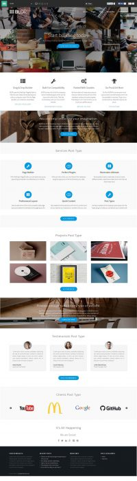 BLDR Free Multipurpose WordPress theme (Custom)