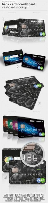 Bank Card   Credit Card CashCard Mock-Up (Custom)