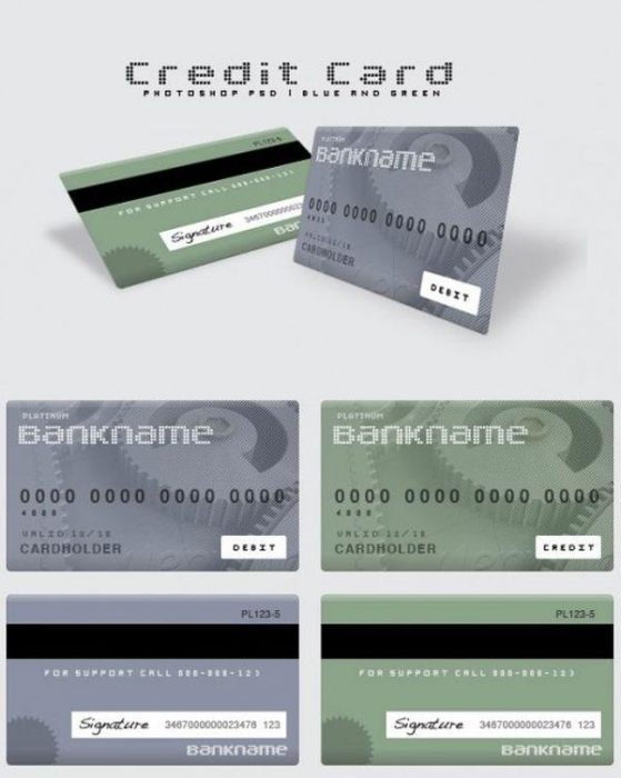 Bank savings card template psd (Custom)