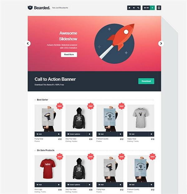 Bearded eCommerce WordPress Theme (Custom)