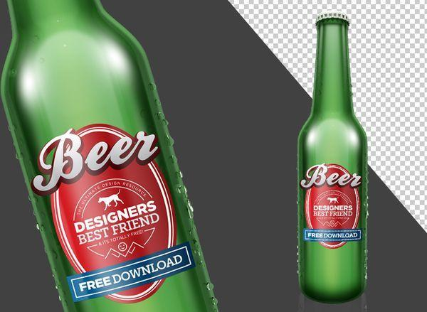 Beer Bottle PSD (Photoshop) Mock Up Template (Custom)