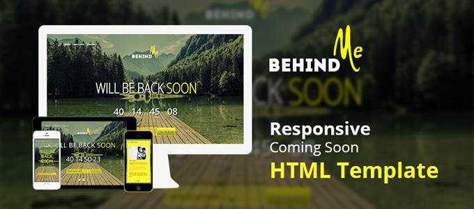 BehindMe – Responsive Coming Soon HTML Template (Custom)