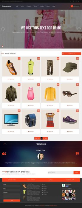 BetaCommerce eCommerce Blogger Template (Custom)
