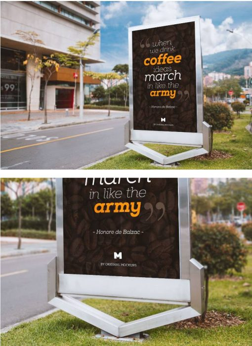 Billboard Outdoor Advertising PSD Mockup
