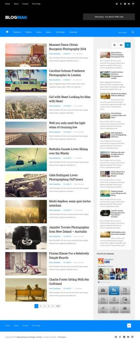 Blogmag Clean & Responsive Blogger Template (Custom)