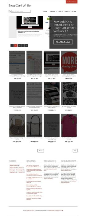 BlogrCart Shopping Blogger Templates (Custom)
