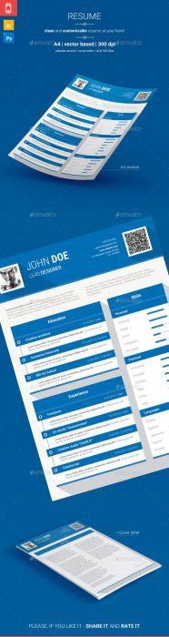 Blue Resume  CV (Custom)