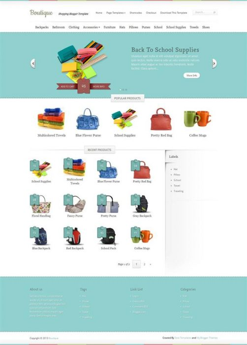 Free Best Ecommerce Blogger Templates TechClient - Responsive shopping cart template