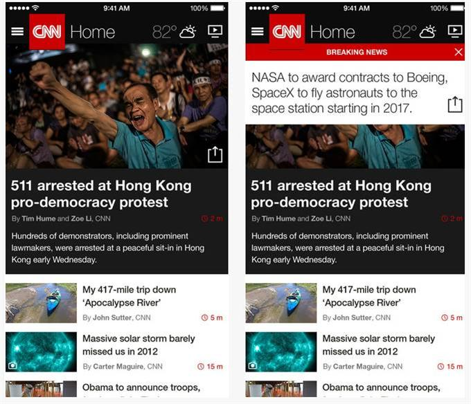 CNN App for iPhone (Custom)