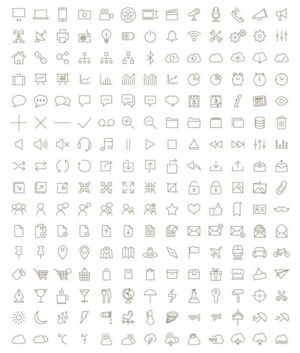 CSS-Ready 500 Icons (Custom)
