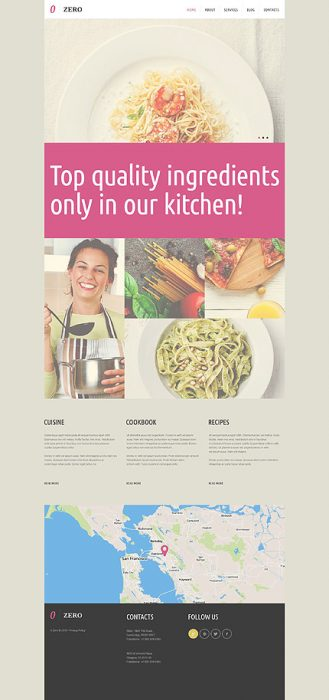 Cafeteria and Restaurant Responsive WordPress Design