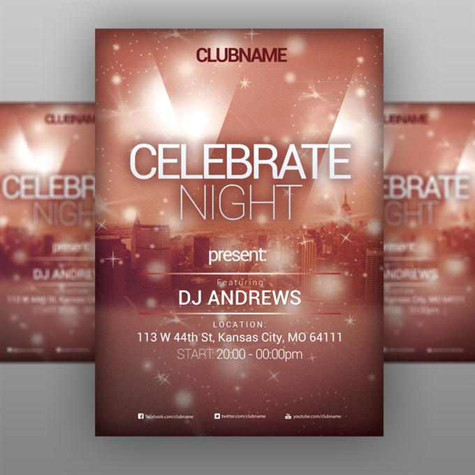 Celebrate Night – Party Flyer (Custom)