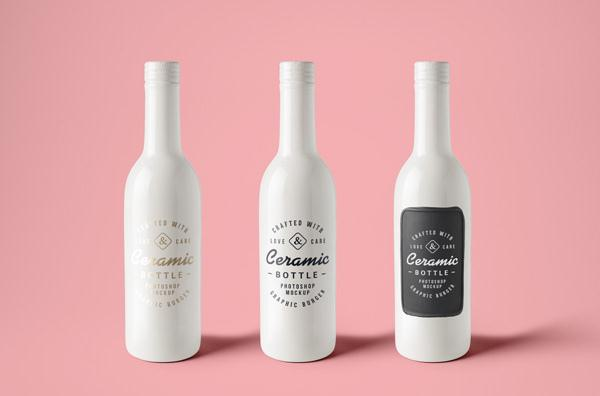 Ceramic Bottles MockUp (Custom)