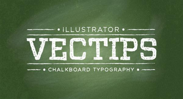 Chalkboard Type Treatment in Illustrator (Custom)