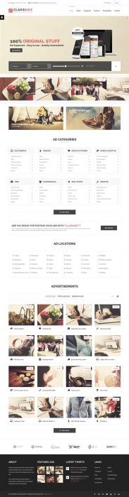Classiads - Classified Ads WordPress Theme  (Custom)