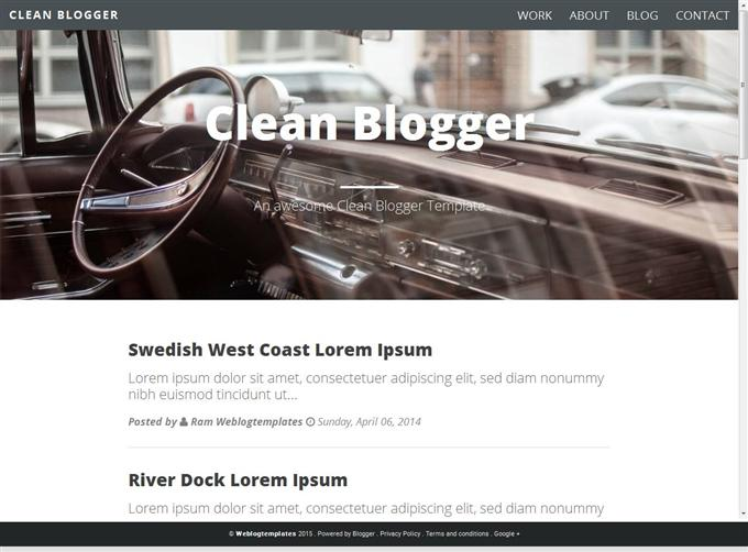 Clean Blogger Template for Personal Blogs (Custom)