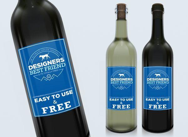 Clean Wine PSD mock up template (Custom)