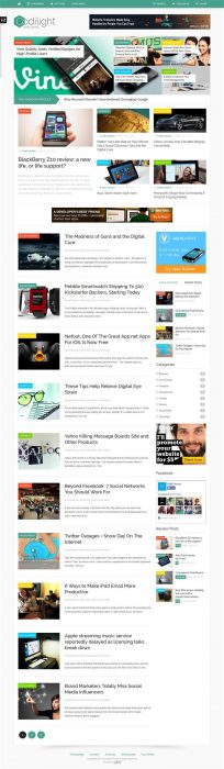 Codilight magazine WordPress theme (Custom)