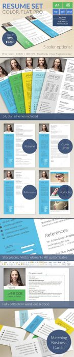 Colorful Flat Resume Set (Custom)