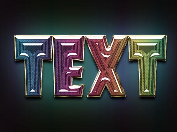Colorful and glassy text effect in 25 minutes (Custom)