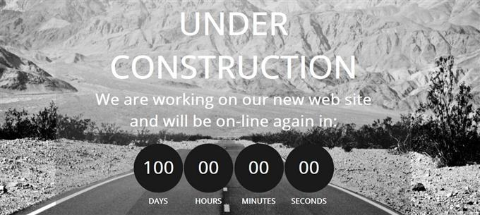 Construct Under Construction Mobile Website Template (Custom)