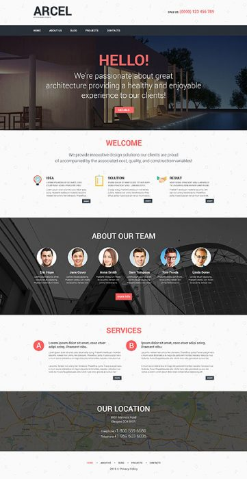 Construction Agency WordPress Template