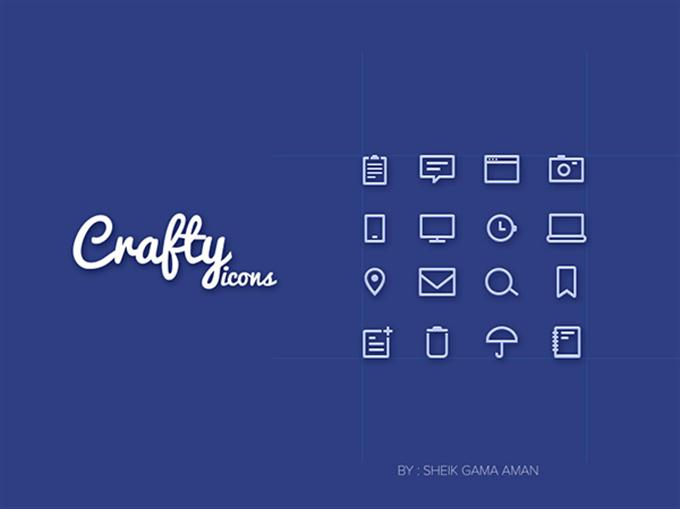 Craftyicons  16 line Icons PSD (Custom)