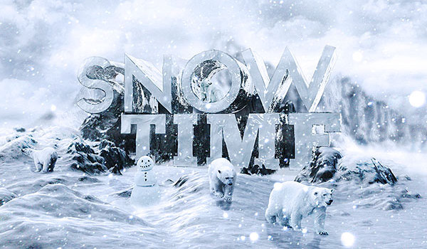 Create 3D Snow Text Effect Using Cinema4D and Photoshop
