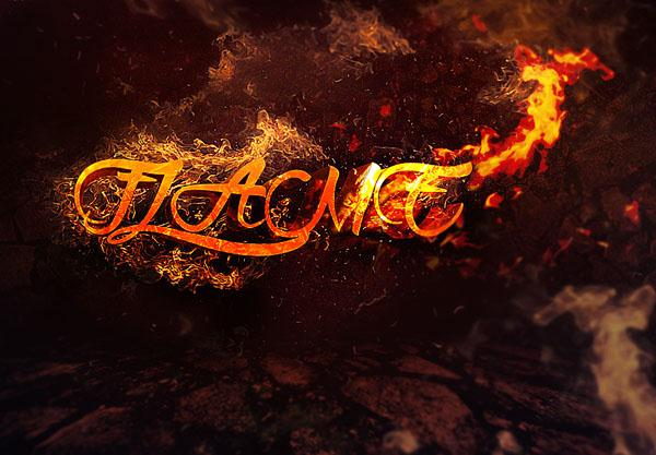 Create 3D Text Surrounded by Flame in Photoshop (Custom)