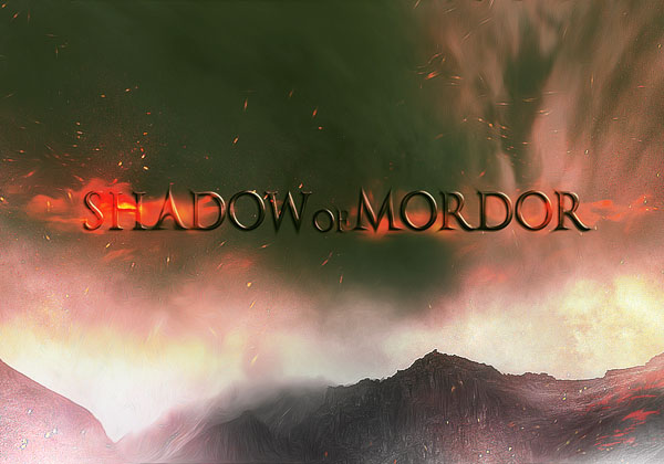 Create Dark Text Effect Inspired by Middle Earth
