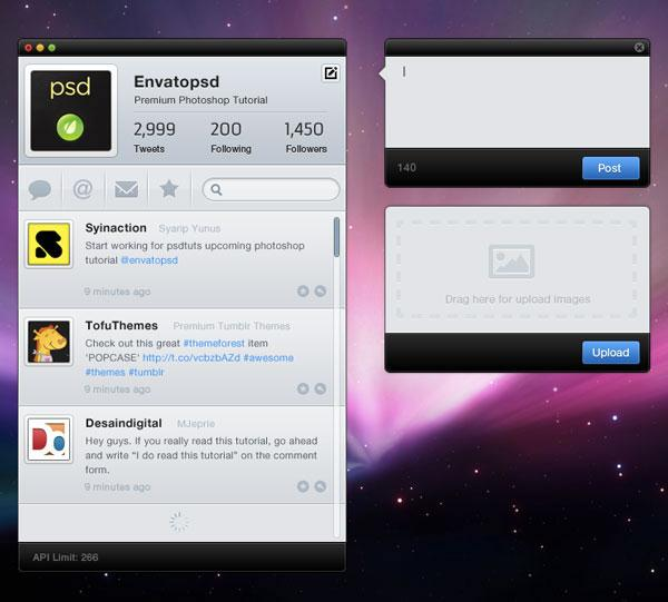 Create a Clean Twitter App Interface in Photoshop (Custom)