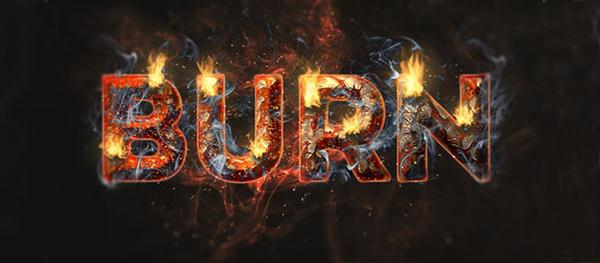 Create a Fiery and Rusty Text Effect (Custom)