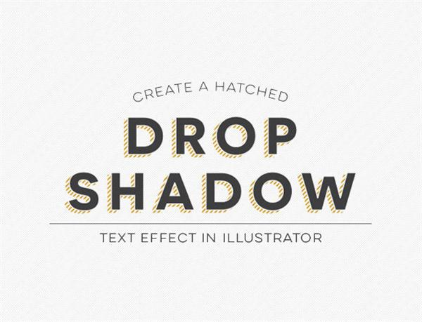 Create a Hatched Drop Shadow Text Effect in Illustrator (Custom)