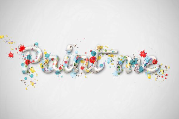 Create a Multicolored Splashed Text Effect in Adobe Illustrator (Custom)