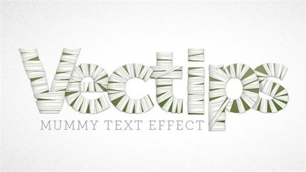 Create a Mummy Text Effect in Illustrator (Custom)