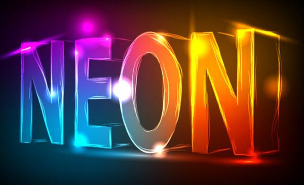 Create a Neon Text Effect in Illustrator (Custom)