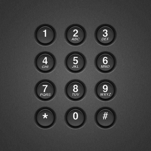 Create a Realistic Telephone Keypad Using Layer Styles (Custom)