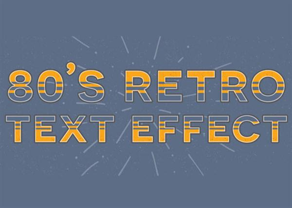Create a Retro Text Effect in Adobe Photoshop (Custom)