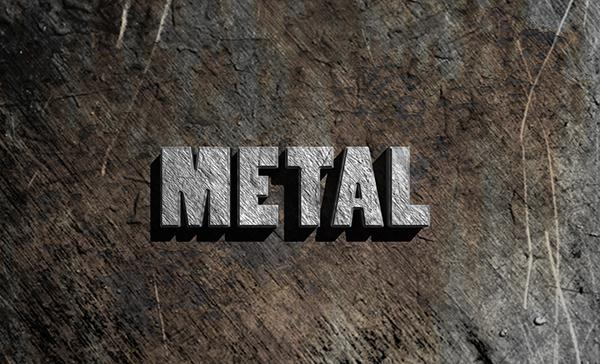 Create a Simple 3D Text Metal Effect in Adobe Photoshop (Custom)