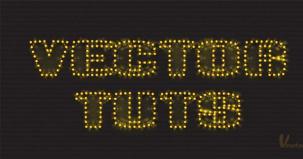 Create a Sparkly Text Effect in Adobe Illustrator (Custom)