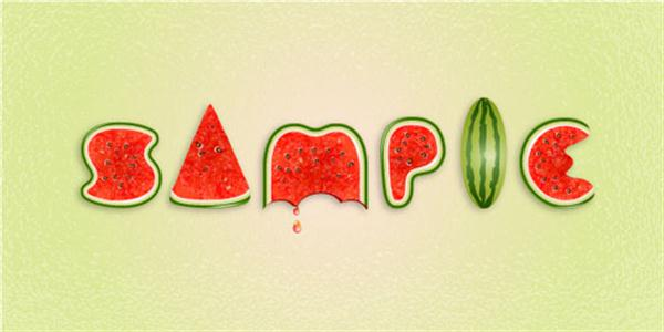 Create a Watermelon Text Effect in Illustrator (Custom)