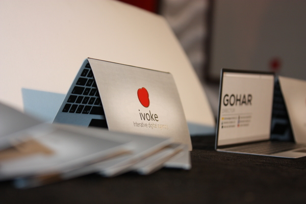 Creative Business Card for Ivoke Digital Agency