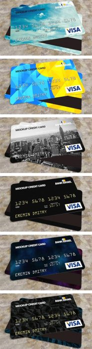 Credit Card Mockup Free PSD (Custom)