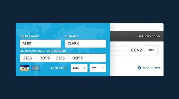 Credit Card Online Data PSD (Custom)
