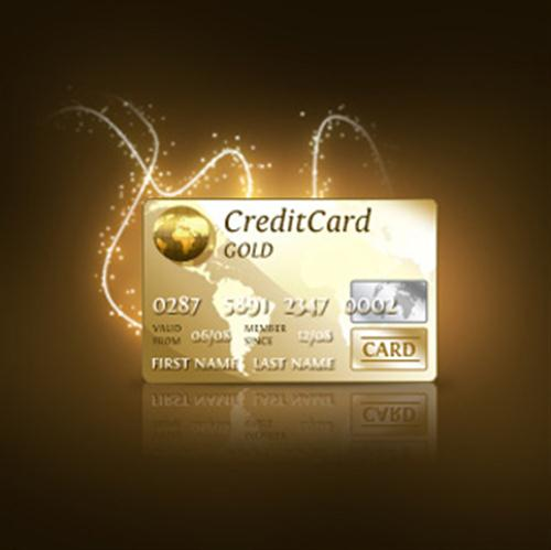 Credit Card PSD Gold (Custom)