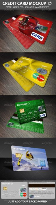 Credit Cards Mockup (Custom)