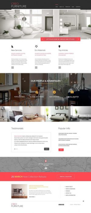 Creo Furniture Responsive WordPress Theme (Custom)